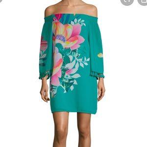 Trina Turk off shoulder dress